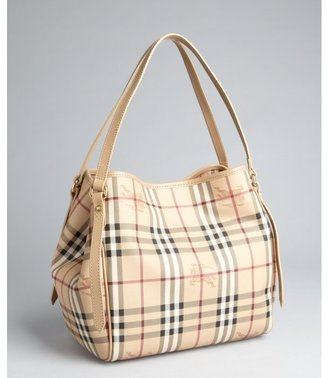 Burberry trench and Haymarket check coated canvas 'Canterbury' shoulder bag