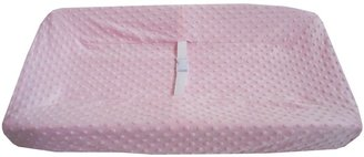 American Baby Company Heavenly Soft Minky Dot Changing Table Cover - Pink
