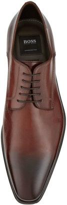 HUGO BOSS Cassab Burnished Leather Lace-Up Shoe, Medium Brown