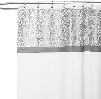 Serengeti White Fabric Shower Curtain