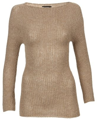 Zucca Tan wool knitted sweater
