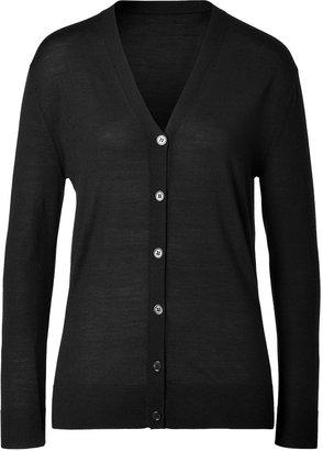Jil Sander Navy Wool Cardigan Black