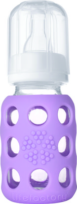 Green Baby Lifefactory Glass Baby Bottles 4 oz