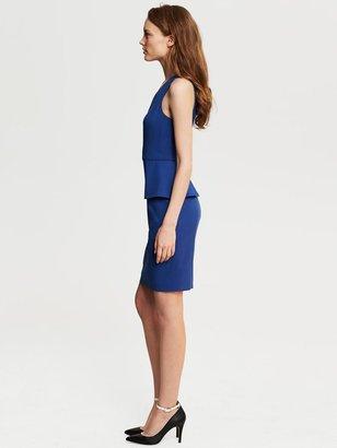 Banana Republic Cobalt Lightweight Wool Peplum Dress