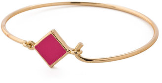 American Apparel Hinged Wire Bracelet With Fuchsia Clasp