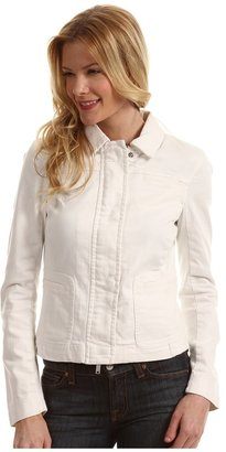 Calvin Klein Jeans Collarless Jacket w/ Flap Pockets (Star White) - Apparel