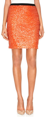 The Limited Sequined Pencil Skirt