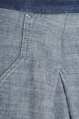 See by Chloe Reversed denim wide-leg pants
