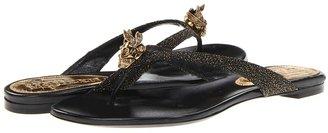 Alexander McQueen Infra Pelle - Metallic Sugar (Gold/Black/Black) - Footwear