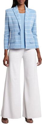 Vince Misook Knit Palazzo Pants, White