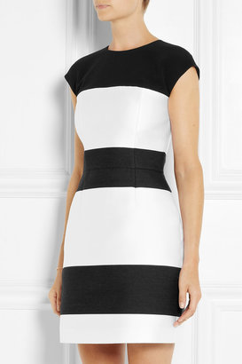 Narciso Rodriguez Striped wool-blend and satin dress