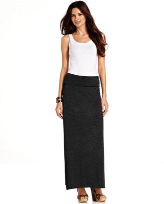 Studio M Foldover Waist Maxi Skirt