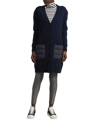Moncler Long Cardigan with Padding