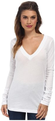 LNA - 007 L/S Deep V-Neck Women's Long Sleeve Pullover $59 thestylecure.com