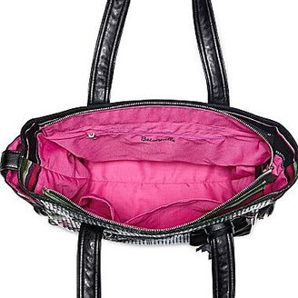 Betseyville by Betsey Johnson Sequin Striped Canvas Tote