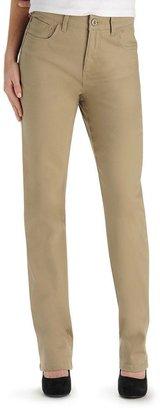 Lee adele classic fit slim straight-leg jeans - petite