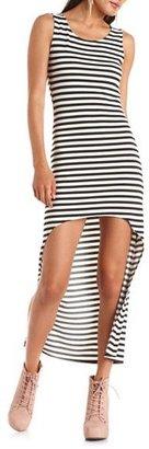 Charlotte Russe Hi-Low Striped Maxi Dress