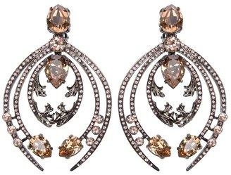 Roberto Cavalli crystal clip earrings