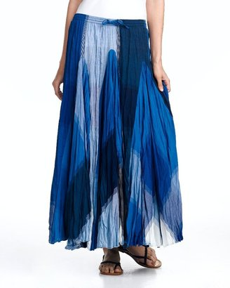 Chelsea & theodore abstract-print long skirt
