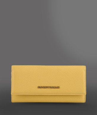 Emporio Armani Fold-Over Wallet In Hammered Leather