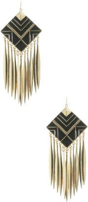 Arden B Diamond Drop Geo Earrings
