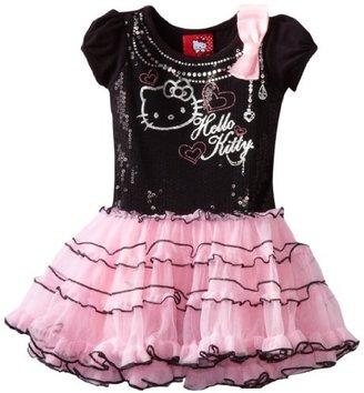 Hello Kitty Girls 2-6x HK Short Sleeve Tutu Dress With Sequins
