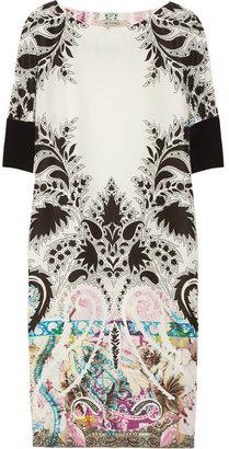 Etro Printed silk-crepe mini dress