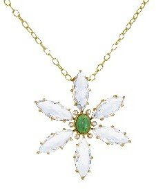 Cathy Waterman Jeweled Flower Necklace - 22 Karat Gold