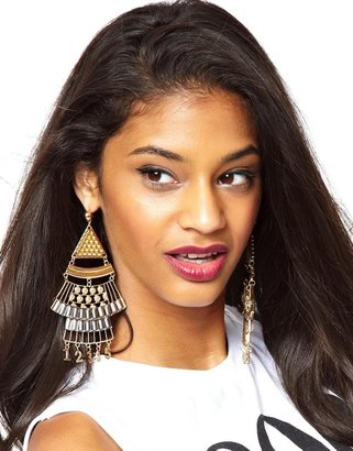 Asos Modern Number Chandelier Earrings