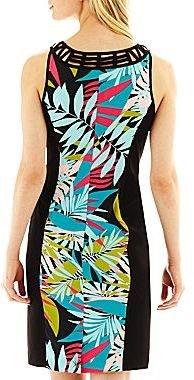 Nicole Miller nicole by Lattice-Yoke Print Dress