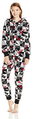 Hello Kitty Women's Hooded One-Piece Pajama Coverall $39 thestylecure.com