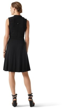 White House Black Market Sleeveless Knit Shirtdress