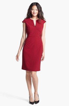 Adrianna Papell Side Tucked Sheath Dress