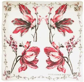 Alexander McQueen Exploding tulip print pashmina scarf