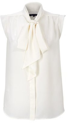 French Connection Silky Tie Neck Blouse