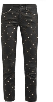 Isabel Marant Duncan embellished leather trousers