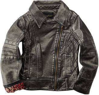Hannah Banana Faux-Leather Motorcycle Jacket