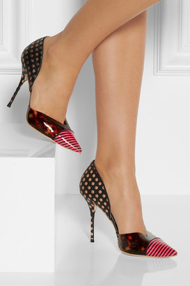 Webster Sophia Jessica printed leather and vinyl pumps
