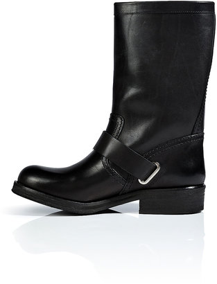 Vanessa Bruno Leather Biker Boots in Black