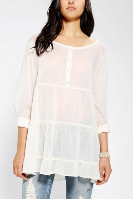 Urban Outfitters Ecote Tiered Breezy Babydoll Tunic