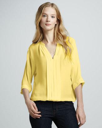 Joie Marru Silk Blouse, Lemon