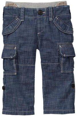 Gap Roll-up denim cargo pants
