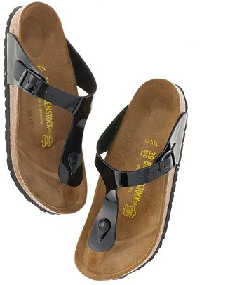 Birkenstock patent gizeh sandals
