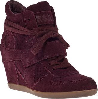 Ash Bowie Wedge Sneaker Bordo Suede