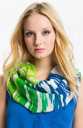 Echo Ombre Ikat Stripe Infinity Scarf Womens Primary Blue One Size One Size