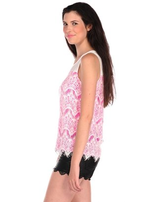 Romeo & Juliet Couture Neon Lace Tank
