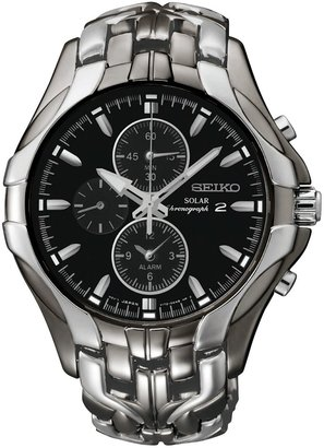Seiko Men's Two Tone Stainless Steel Solar Chronograph Watch - SSC139