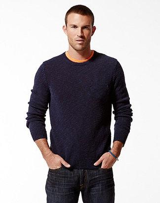 Grayson One-Pocket Slub Crew Sweater