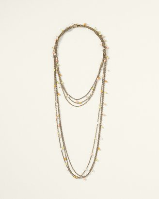 Coldwater Creek Delicate beaded chain necklace