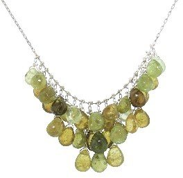Ten Thousand Things Mixed Green Tourmaline Waterfall Necklace - Sterling Silver
